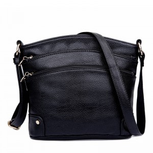 Genuine Leather Ladies Handbag With Zipper Casual Crossbody Travel Bags High Capacity For Women Thumbnail