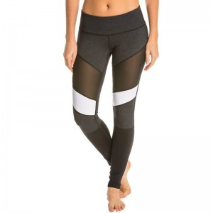 Gothic Style Mesh Patchwork Nylon Fabric Legging High Waist Quick Drying Activewear Pants New Fashion Sporting Pant