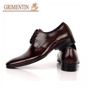 Grimentin Designer Men Leather Shoes Lace Up Pure Italian Office European For Men Thumbnail
