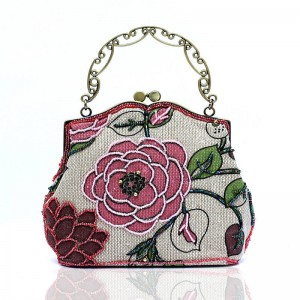 Handmade Handbags Clutches Diagonal Retro Party Wedding Shoulder Bags Messenger Clutches With Metal Chains Thumbnail