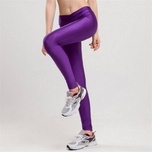 High Waist Candy Colors Neon Sportswear Workout Leggings Elastic For Women Thumbnail
