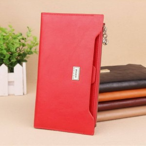 Hot Sale Women Wallet Pu Leather Zipper Wallet Change Purse Card Holder Top Grade Long Clutch Thumbnail