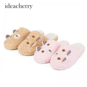 Idea Cherry Fashion Cute Bear Warm Winter Autumn Indoor Slippers Soft Women Thumbnail