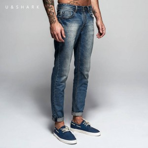 Italian Style Fashion Solid Skinny Denim Pants Luxury Style For Men Thumbnail