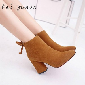 Kaiyunon Women Winter Snow High Heel Pumps Martin Boots For Women Thumbnail