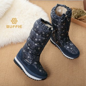 Knee high boots big size warm boots with fur winter hot selling female bootie brand snow boots hot lady winter shoes