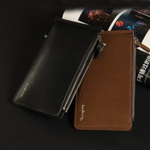 Large Capacity Slot Card Holders Men Leather Wallet Famous Brand Bifold Money Purse Fashion Male Cash Coin Pocket
