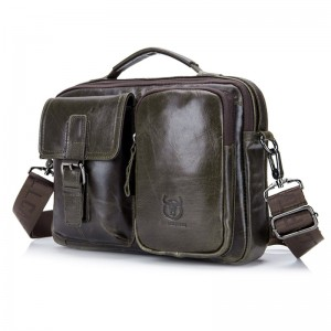Leather Briefcase For Men Messenger Laptop Bag Business Messenger Bags for Document Shoulder Handbags