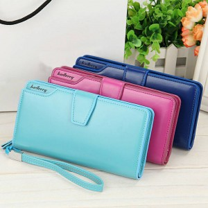 Long Leather Women Bags Wallets Elegant Design Female Big Capacity Purse Cardholder Wallet Thumbnail