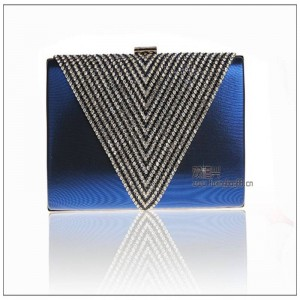 Luxury Diamond Women Evening Bags Designer Party Clutch Rhinestone Wedding Crown Velvet Bridal Princess Bags Thumbnail