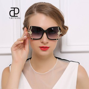 Luxury High Quality Butterfly Designer Sunglasses For Women With Original Box Leopard Alloy Frame Shades