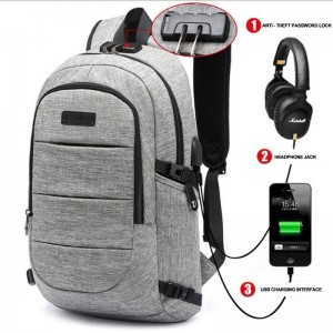 Men Anti Theft Laptop Backpack USB Notebook Backpacks Waterproof Password Lock School Bag For Women