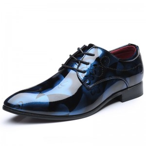 Men Formal Shoes Men Dress Shoes Floral Pattern Leather Oxfords Luxury Fashion Groom Wedding Shoes For Men