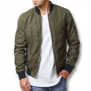 Men Solid Color Pilot Boomer Zip Jackets Coats Male Casual Fashion Slim Fit Large Size Spring Autumn Jackets Men
