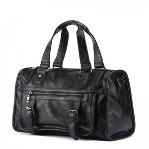 Men Solid PU Leather Handbag Large Capacity Messenger Bag Portable Travel Crossbody Bags Men Package Travel Bags