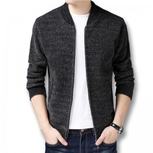 Men Winter Autumn Thick Fleece Sweater Jackets Cardigans Knitwear Male Casual Fashion Slim Fit Large Size Sweater