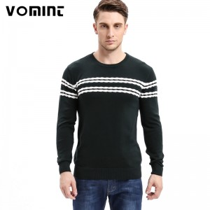 Mens Knitted Sweater Patterns Striped thick Pullover Sweaters Winter casual Round neck Cotton Sweater Cardigan
