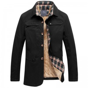 Mens Long Stretch Fashion Coat Comfortable Material Turn down Collar New Arrival Late Autumn And Winter Blend Coats