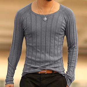 Mens Pullover tops Casual long sleeve shirts Brand Autumn O neck bottoming sweatshirt Men Cotton knitwear Sweaters