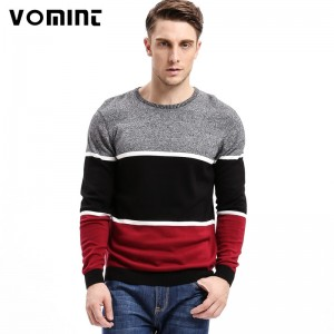 Mens Pullovers Sweaters O neck Wear Basic Style Stitching three color design Preppy Shirts  Regular Mens Fashion