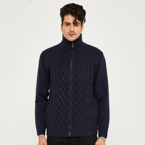 Mens Sweater New Arrival Autumn And Winter Cardigan Casual Style With Argyle Plus Size M 3XL Size Blue Color Cardigans
