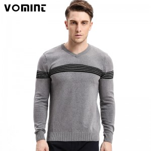 Mens Sweaters Pullovers Striped England Sweaters Cardigans Link Preppy Style Fashion Men V Neck Sweatshirt