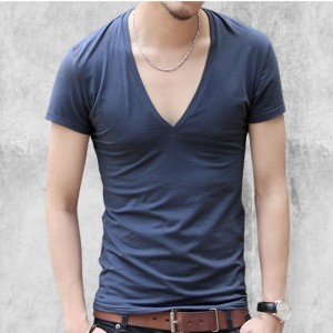 Mens V neck sexy Tshirt men cotton lycra t shirts Short Sleeve Tops Tees Mens T shirt New Mens Summer designer Tops