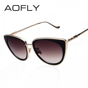 Metal Frame Cat Eye Women Sunglasses Female Sunglasses Famous Brand Designer Alloy Legs Glasses oculos de sol