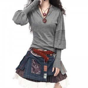 New Arrival Cashmere Sweaters Winter V Neck Long Sleeve Pullover Women Thumbnail