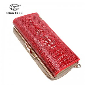 New Arrival High Quality Wallet Patent Leather Women Wallets For Cell Phone Aligator 3D Purse Thumbnail