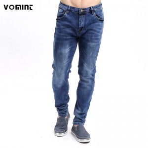 New Arrival Mens Casual Business Stretch Jeans Homme Slim Fit Denim Pants Male Skinny Washed Details elastic Pants