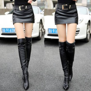 New Arrival Pu Leather Shorts Skirts Women Mini Sexy Skirts Summer Style For Ladies Thumbnail