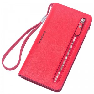 New Arrival Women Wallet Striped Card Purse Zipper Phone Wallet Coin Purse For Women Thumbnail