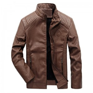 New autumn and winter mens leather jacket coat classic British motorcycle leather jacket leisure clothing Plus Size