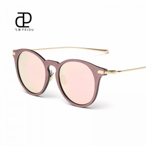 New Cat Eye Women Sunglasses Grain Coated Lens Optical Polarized UV400 Clear Mirror Female Eyewear