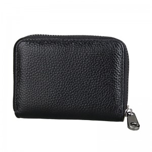 New Design Unisex Short Zipper Wallet Genuine Leather Credit Card Money Cash Holder Ladies ID Case