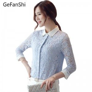 New Fashion Autumn Winter Dress Slim Long Sleeve Elegant Tops Blouses Korean Style Thumbnail