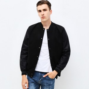 New Fashion Brand Clothing Jacket Men Casual Letter Patchwork Sleeve Mens Coat Mandarin Collar Men Autumn Jacket S 6XL