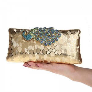 New Fashion Colorful Peacock Sequin Evening Clutches Bridal Top Quality Evening Wedding Banquet Clutches Thumbnail