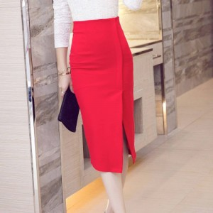 New Fashion Spring Autumn Skirts For Women Hip Skirt Split High Waist For Ladies Thumbnail