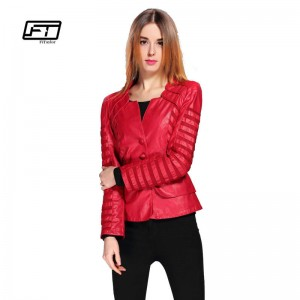 New Fashion Spring Autumn Soft Faux Leather Jackets Zipper Long Sleeve Coats For Women Thumbnail