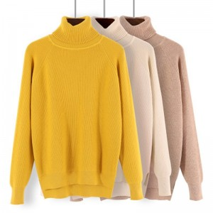 New Korean Style Women Sweaters Chic Knitted Turtleneck Sweaters And Pullovers Female Jumper Winter Tops