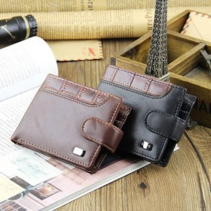 New Men Bifold Leather Latest Design Wallets Cardholders Purses For Men Thumbnail