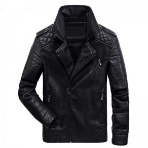 New men leather jackets and Europe and the Americas leisure motorcycle leather jacket men coat clothes large size
