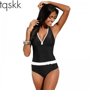 New One Piece Swimsuit For Women Vintage Bathing Suit Halter Top Plus Size Swimwear Summer Suit For Women Thumbnail