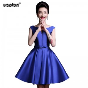 30df6d2bf New Purple Bridesmaid Dresses A Line Pretty Short Backless Wedding Dress  Satin Dress Formal Gown For Women