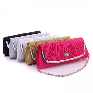 New Satin Clutches European American Style New Fashion Clutches Satin Evening Party Prom Banquet Clutches Thumbnail