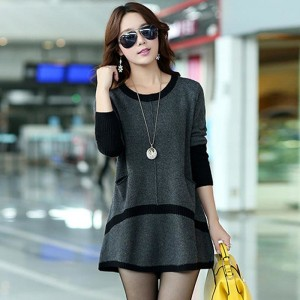 New Season Autumn Sweater Dress Pullover Women Fashion O Neck Long Sleeve Pullovers Sweaters Casual Loose Jumper