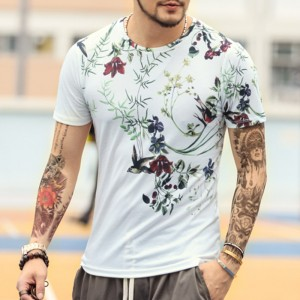 New Spring Summer T Shirts For Men Short Sleeved Cotton Casual Tops Tees Fitness Clothing For Men