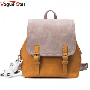 New Vogue Star Fashion Backpack For Women Genuine Pu Leather Female Shoulder Bag Girls School Bags Backpacks